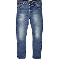 River Island MensLight wash Chester tapered jeans