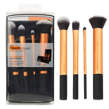 Makeup Brush Pro Powder Foundation Eyeshadow Cosmetic 4pcs/Set Brushes Tool
