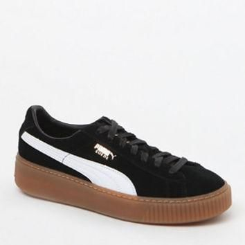 puma women s black suede platform core sneakers at pacsun com  number 1