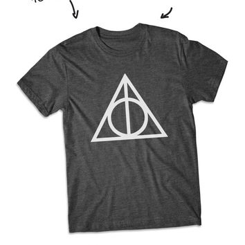 Deathly Hallows Ringer Harry potter shirt short Sleeve tshirt