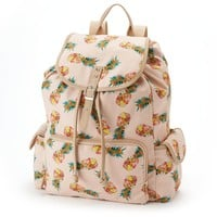 Candie's Floral Pineapple Cargo Backpack