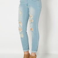 Light Rolled Cuff Jean Capri By Wild Blue x Sadie Robertson™ | Cropped Jeans | rue21