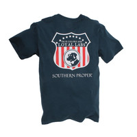 Exclusive Loyal Labs Tee in Navy by Southern Proper