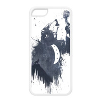 Wolf Song 3 White Silicon Rubber Case for iPhone 5C by Balazs Solti