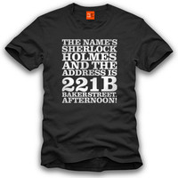 Inspired by Sherlock T-Shirt - Sherlock from ShotDeadInTheHead.com