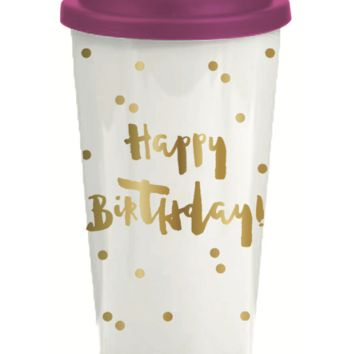 Happy Birthday 16 oz. Travel Tumbler