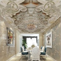 beibehang Custom wallpaper 3d exquisite luxury marble ceiling ceiling living room murals papel de parede wallpaper for walls 3 d