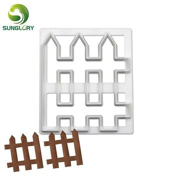 Sugarcraft Cutters Picket Fence Cookie Cutter Plastic Cupcake Biscuit Mold Fondant Cake Decorating Tools DIY Homemade Baking