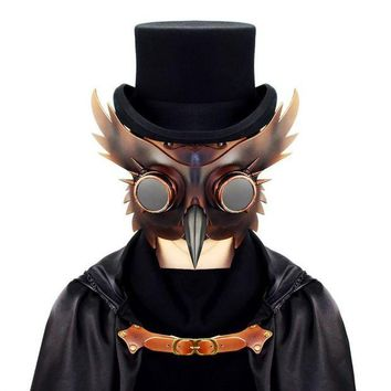 LMFON 2017 New Vintage Dr. Beulenpest Steampunk Plague Doctor Mask Bird Beak Cosplay Fancy Mask Gothic Retro Halloween Cosplay Mask