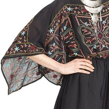 Free People 'Sheer Batiste' Embroidered Tunic Dress | Nordstrom