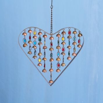 Heart with Dangles Ornament and Wind Chime - New item!
