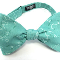 Robins Egg Blue Love Oxytocin Molecule Bow Tie - bowtie, bow ties, bowties, geek, geeky chic, mens, science, self tie, pretied, scientist
