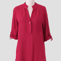 Teresa May Blouse In Red