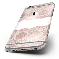 The Rose Gold Lace Pattern 11 Six-Piece Skin Kit for the iPhone 6/6s or 6/6s Plus