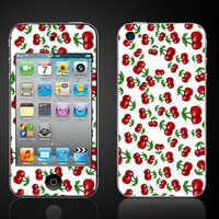 Free Shipping  Cherries red cherry  Apple iPod Touch 4 SKIN by ItsASkin