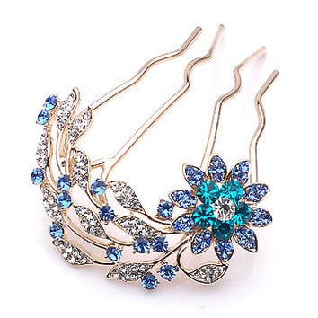 Accessory Korean Hair Accessories Elegant Rhinestone Crystal Brush [6044719617]