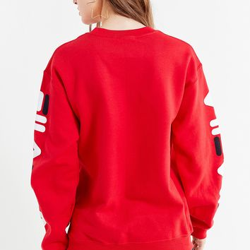 FILA + UO Double Logo Crew-Neck Sweatshirt | Urban Outfitters