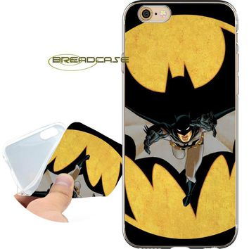 Batman Dark Knight gift Christmas Coque Comic Superhero Batman Soft Clear TPU Silicone Phone Cases for iPhone X 8 7 6S 6 Plus 5S SE 5 5C 4S 4 iPod Touch 6 5 Cover AT_71_6