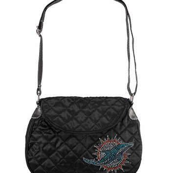 Miami Dolphins NFL Sport Noir Quilted Saddlebag