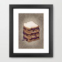 Peanut Butter and Jelly Sandwich Framed Art Print by Tees2go