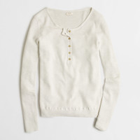 Factory ribbed sweater henley