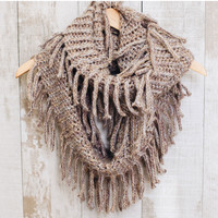 Happy Together Infinity Scarf - Taupe