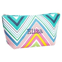Surf Swell Beauty Pouch, Multi-Chevron