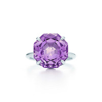 Tiffany & Co. - Tiffany Sparklers ring in sterling silver with a lavender amethyst.