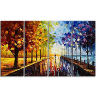 Colorful Landscape Canvas Oil Painting