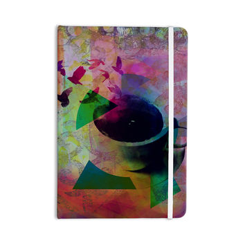 "AlyZen Moonshadow ""TEA BIRDS"" Purple Multicolor Everything Notebook"