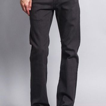 Men's Slim Fit Colored Jeans (Charcoal)