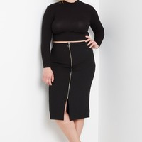 Margo Ribbed Crop Top Plus Size
