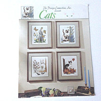 Kittens and Cats, Counted Cross Stitch, Cross Stitch Pattern, Cat Pattern, Four Seasons Pattern