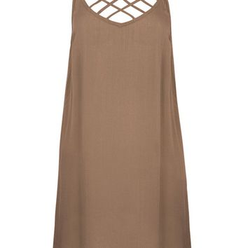 Hina Caged Mini Dress - Tan