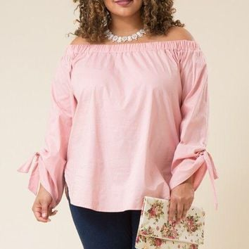 Dahnya Plus Size Bow Tie Top