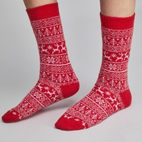 Catherine Tough Short Fairisle Socks
