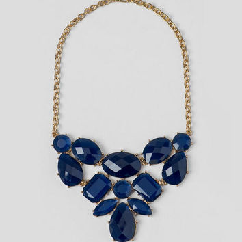 Saums Statement Necklace In Navy