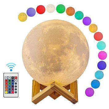 3D Moon Lamp Color Changing LED Light