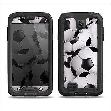 The Soccer Ball Overlay Samsung Galaxy S4 LifeProof Fre Case Skin Set