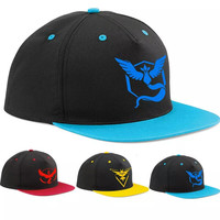 Pokemon Go Adjustable Baseball Cap Team Valor Mystic Instinct