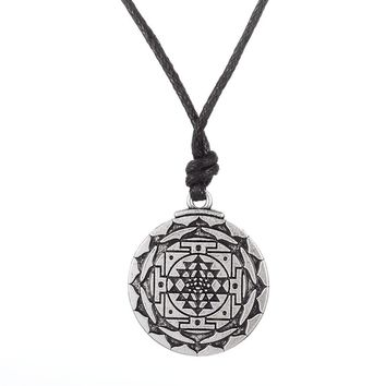 3rd Eye ~ Sri Yantra Necklace Jewelery
