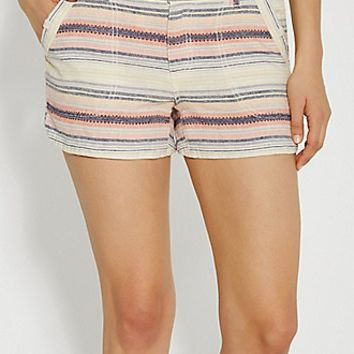 shorts with patterned stripes | maurices
