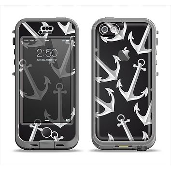 The Black Anchor Collage Apple iPhone 5c LifeProof Nuud Case Skin Set