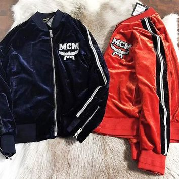 MCM Luxurious vintage velvet fabric super shiny texture is very good Indian silk embroidery women's jacket Two Color