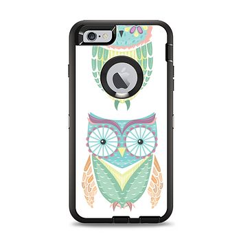 The Crazy Cartoon Owls Apple iPhone 6 Plus Otterbox Defender Case Skin Set