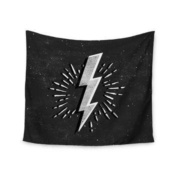 "KESS Original ""Bolt"" Black White Wall Tapestry"