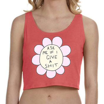Rude Flower Crop Top Tank