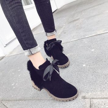 ca DCCKTM4 On Sale Hot Deal Dr. Martens Winter Rabbit With Heel Shoes Anti-skid Rubber Boots [11593329351]