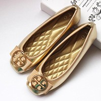 Tory Burch Slip-On Women Fashion Leather Flats Shoes