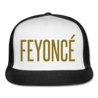 METALLIC GOLD PRINT! Feyonce Trucker Hat